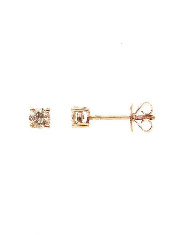 6cd41dc80 Champagne Diamond Stud Earrings (0.37ct. tw.) in 18K Rose Gold