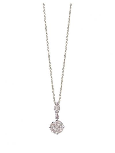 Orient Diamond Pendant (0.80ct. tw.) in 18K White Gold