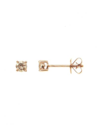 Champagne Diamond Stud Earrings (0.37ct. tw.) in 18K Rose Gold