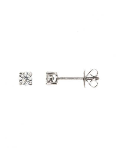 Round Diamond Stud Earrings (0.56ct. tw.) in 18K White Gold