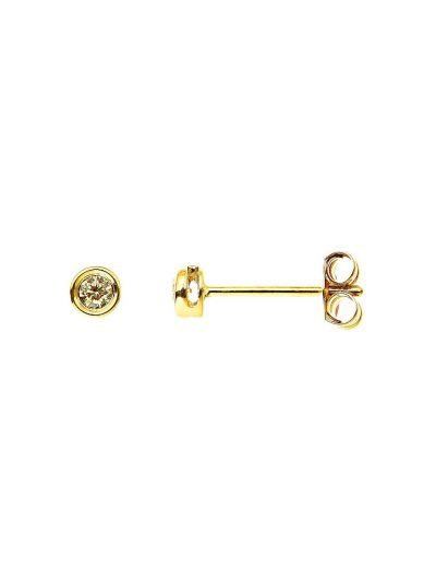 Fancy Yellow Diamond Stud Earrings (0.10ct. tw.) in 18K Yellow Gold