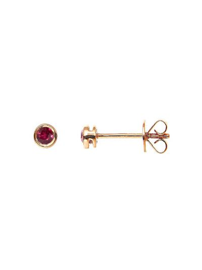 Red Ruby Stud Earrings (0.20ct. tw.) in 18K Rose Gold