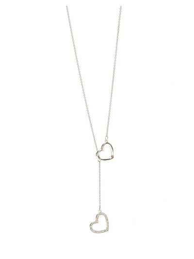 Duo-wear Love Diamond Necklace (0.061ct. tw.) in 18K White Gold