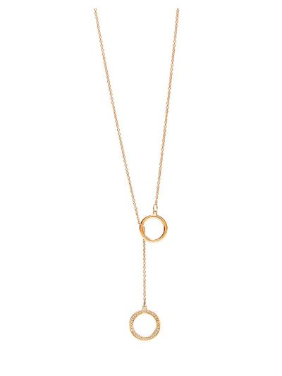 Duo-wear Round Diamond Necklace (0.056ct. tw.) in 18K Rose Gold