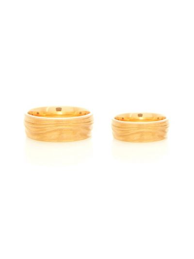 CARDILLAC Face-2-Face Wedding Band in 18K Yellow Gold