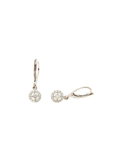 Little Dangle Diamond Earrings (0.42ct. tw.) in 18K White Gold