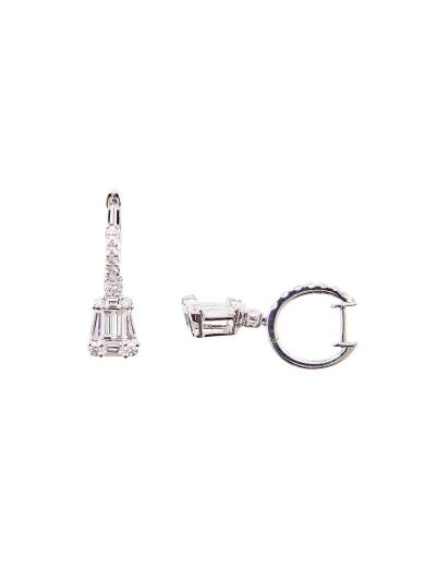 Elegance Tapers Diamond Earrings (1.80ct. tw.) in 18K White Gold