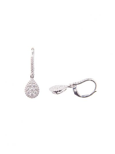 Mini Pear Diamond Earrings (0.86ct. tw.) in 18K White Gold