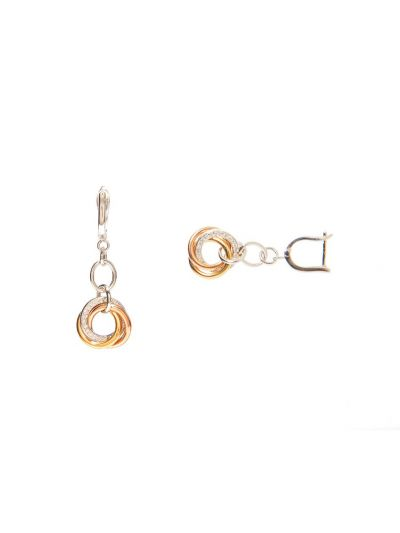 Trinity Dangling Diamond Earrings (0.25ct. tw.) in 18K Gold