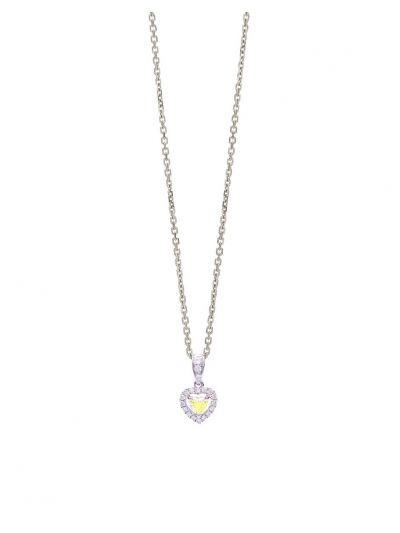 Amoureux Diamond Pendant (0.23ct. tw.) in 18K White Gold