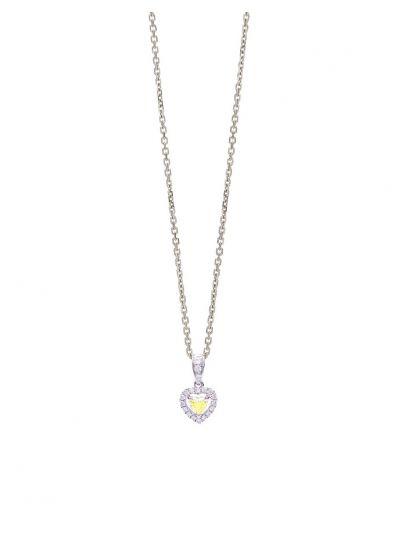 Amoureux Diamond Pendant (0.23ct. tw.) in 18K White Gold