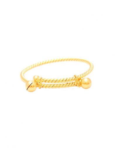 Jingle Bell Bangle in 18K Yellow Gold