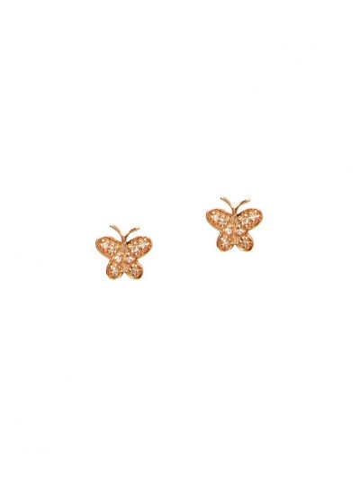 Butterfly Diamond Earrings (0.07ct. tw.) in 14K Rose Gold