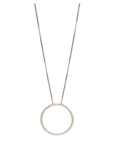 Circular Diamond Pendant (0.68ct. tw.) in 18K White Gold