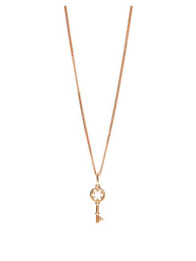 Stackable Baby Key Diamond Pendant (0.06ct. tw.) in 14K Rose Gold