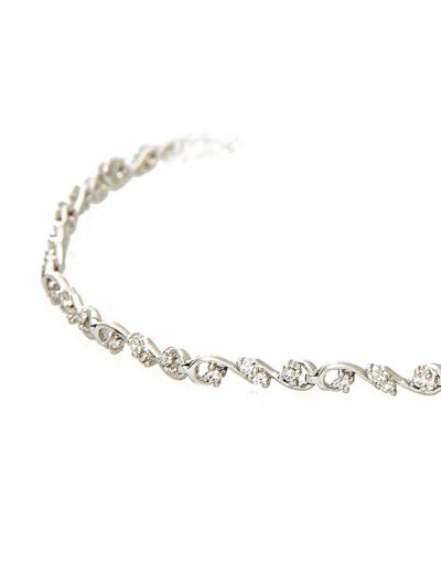 Twirl Diamond Bracelet (0.55ct. tw.) in 18K White Gold