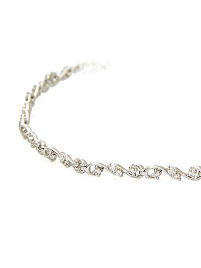 Twirl Diamond Bracelet (0.55ct. tw.) in 18K White Gold