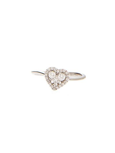 Heartbeat Diamond Ring (0.26 ct. tw.) in 18K White Gold