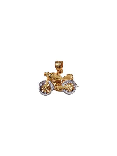 BabyBike Pendant in 18K Yellow Gold