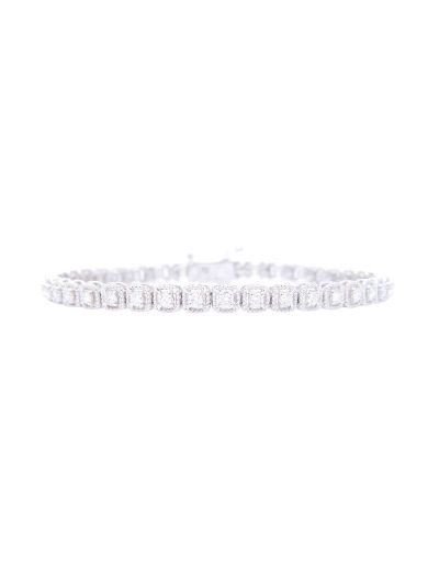 Korean Design Tennis Bracelet (1.52ct. tw.) in 18K White Gold