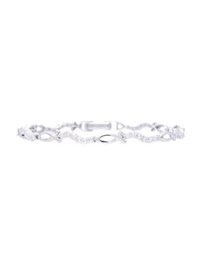 Ribbon Diamond Bracelet (1.03ct. tw.) in 18K White Gold