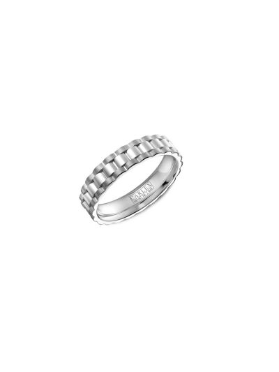 CARLEX 5mm Male Luxury Ring in 18K White Gold