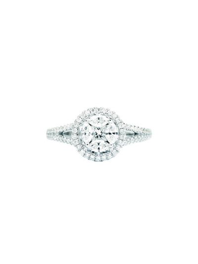Ronde Brilliant Diamond Ring (0.73 ct. tw.) in 18K White Gold