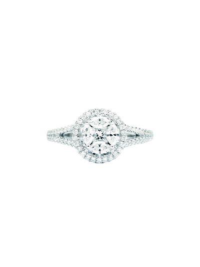 Ronde Brilliant Diamond Ring (0.73 ct. tw.) in 18K White Gold