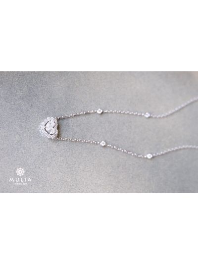 InLove Diamond Necklace (1.36ct. tw.) in 18K White Gold
