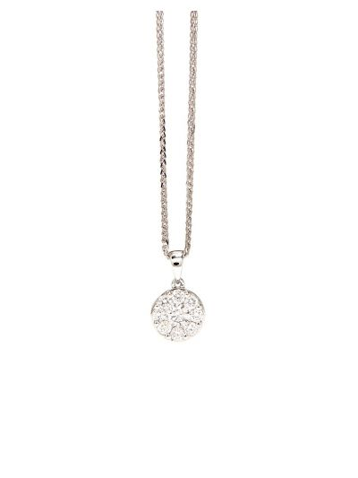 Wedding Diamond Pendant (0.51ct. tw.) in 18K White Gold