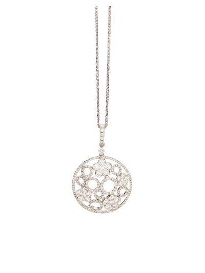Garden Diamond Pendant (1.21ct. tw.) in 18K White Gold