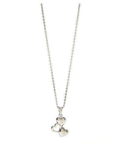 Amour Diamond Pendant (0.05ct. tw.) in 18K White Gold