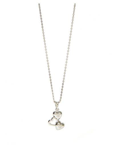 Amour Diamond Pendant (0.05ct. tw.) in 18K White Gold