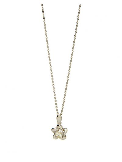 Flora Diamond Pendant (0.30ct. tw.) in 18K White Gold