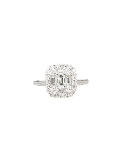 Large Cluster-Cushion Diamond Ring (1.27 ct. tw.) in 18K White Gold