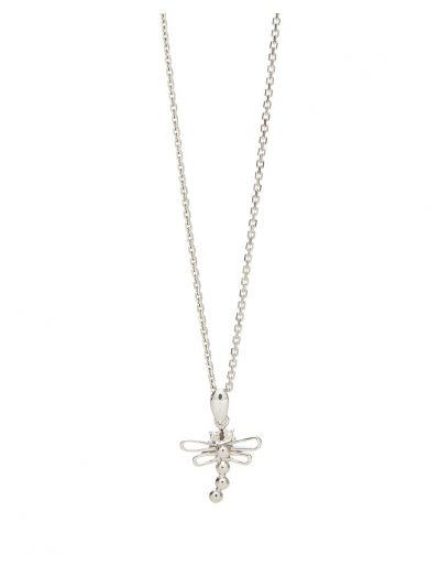 Dragonfly Diamond Pendant (0.03ct. tw.) in 18K White Gold