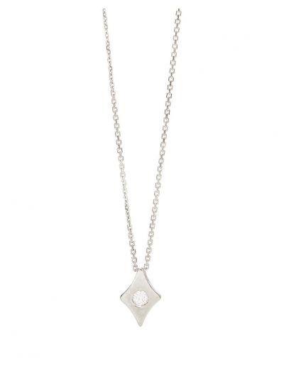 Ace Diamond Pendant (0.15ct. tw.) in 18K White Gold