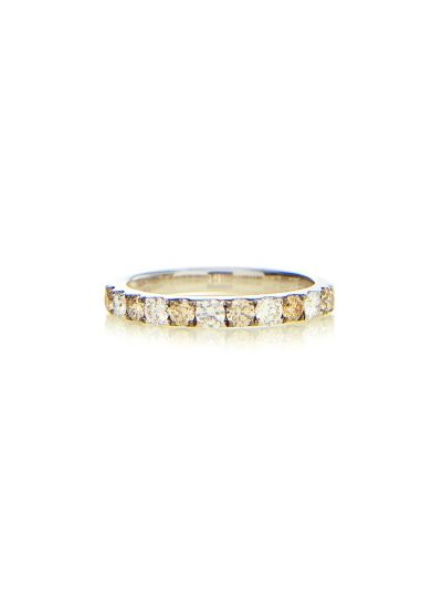 2.5mm Fancy Brown Diamond Eternity Band (0.66ct. tw.) in 18K White Gold