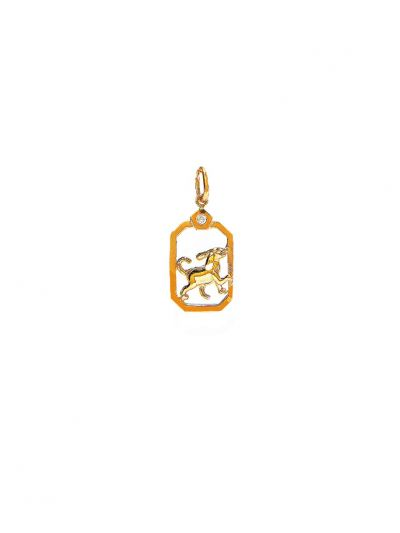 ZodiacDog Diamond Pendant in 18K Yellow Gold