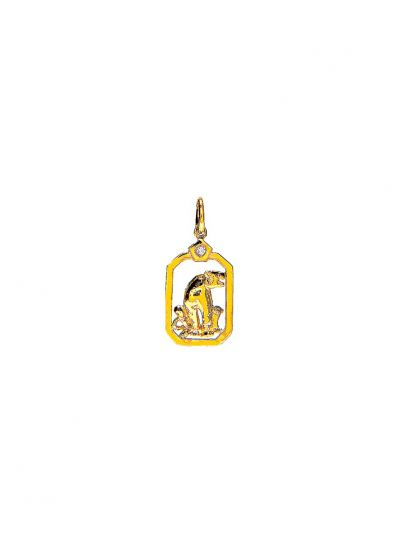 ZodiacTiger Diamond Pendant in 18K Yellow Gold