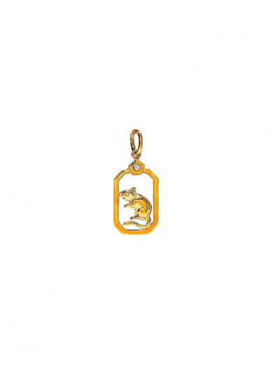 ZodiacRat Diamond Pendant in 18K Yellow Gold