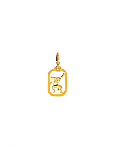 ZodiacMonkey Diamond Pendant in 18K Yellow Gold