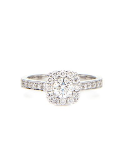 0.33 Carat Preset Centre-my-Universe Diamond Ring in 18K White Gold