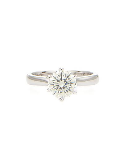 1.06 Carat Preset Classic Solitaire Engagement Ring in 18K White Gold