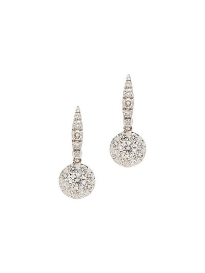 The Perfect Match Large Diamond Earrings (1.50ct. tw.) in 18K White Gold
