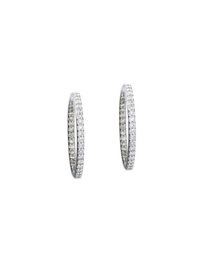 Medium Hoop Earrings (0.58ct. tw.) in 18K White Gold