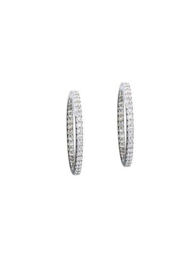 Medium Hoop Earrings (0.58ct. tw.) in 18K White Gold