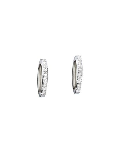 Petite Hoop Earrings (0.14ct. tw.) in 18K White Gold