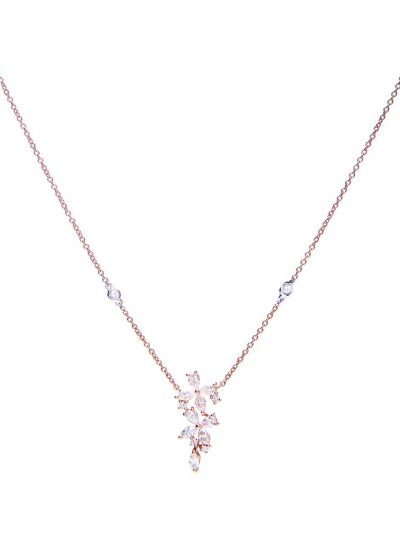 Marquise Clover Diamond Necklace (0.83ct. tw.) in 18K Rose Gold