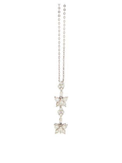 Butterflies Diamond Pendant (1.20ct. tw.) in 18K White Gold